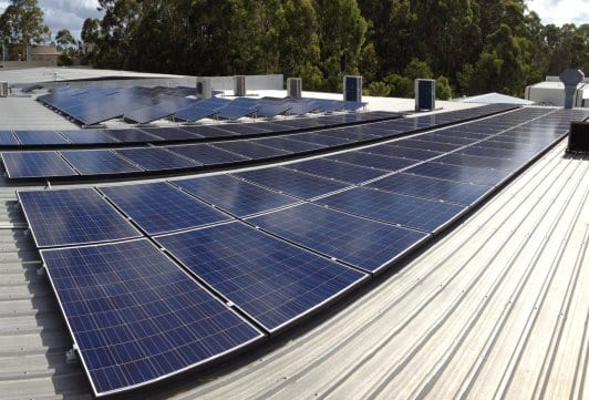 Belgian Delights roof, solar panels installed by Gold Coast Solar Power Solutions.