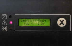 solax isolation fault message