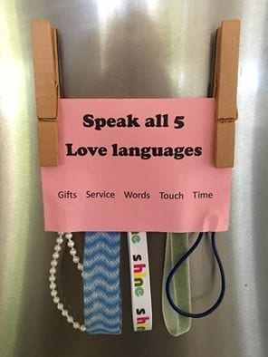 What Love Looks Like / 5 love languages craft activity